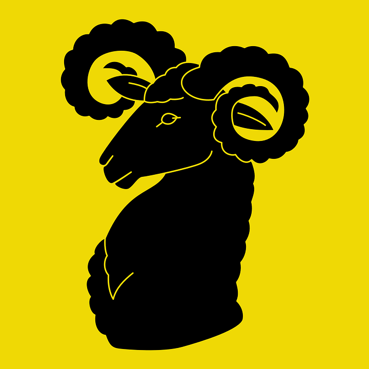 free vector graphic ram goat sheep horns rams head