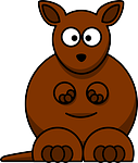 kangaroo, brown, australia