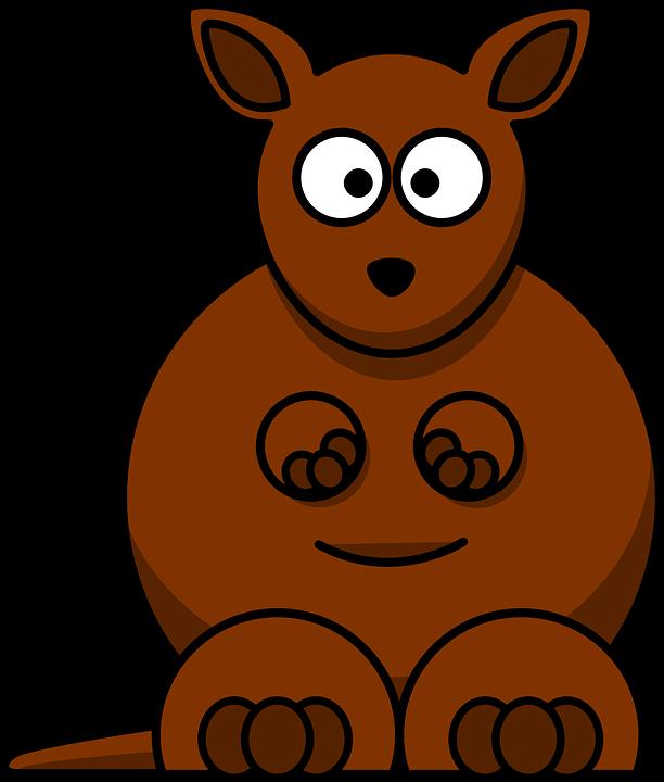 image vectorielle gratuite kangourou  brown  l australie Polar Bear Illustration Polar Bear Clip Art Black and White