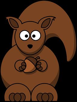 松鼠, 棕色, 卡通, 橡子, 灭鼠, 生物, 动物, 螺母, 尾巴图片