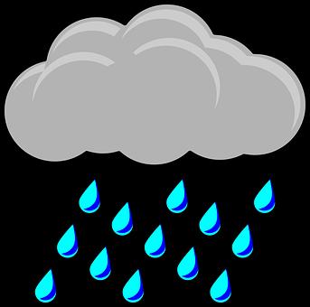 Raincloud, Tempête, Météo, Symbole