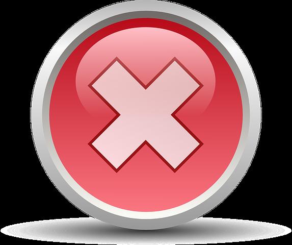 Cancel, No, Symbol, Sign, Wrong, Mark