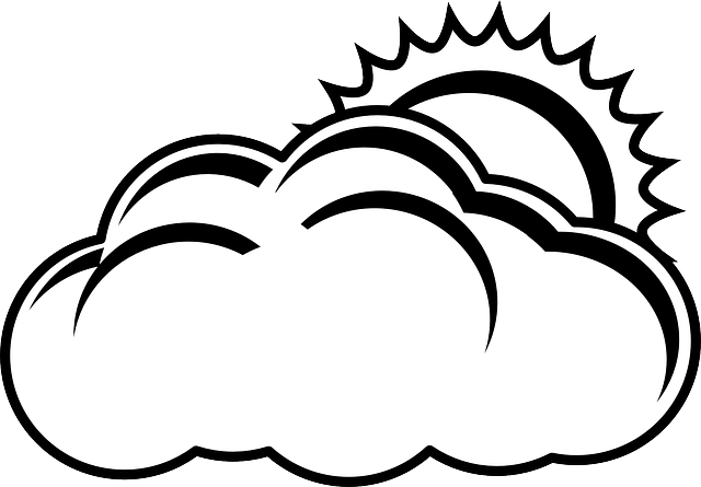 free vector graphic  cloud  sun  overcast  nature