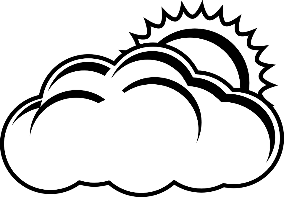 cloud sun overcast free vector graphic on pixabay rh pixabay com foggy day clipart free clipart foggy weather