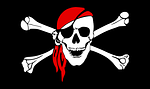 pirate, flag, bones