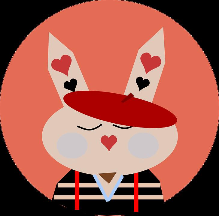 Bunny lapin coeurs images vectorielles gratuites sur pixabay - Images coeur gratuites ...