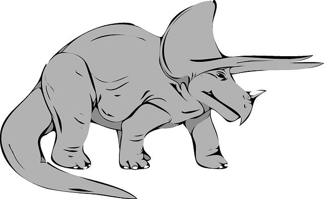 dinosaurier triceratops  kostenlose vektorgrafik auf pixabay