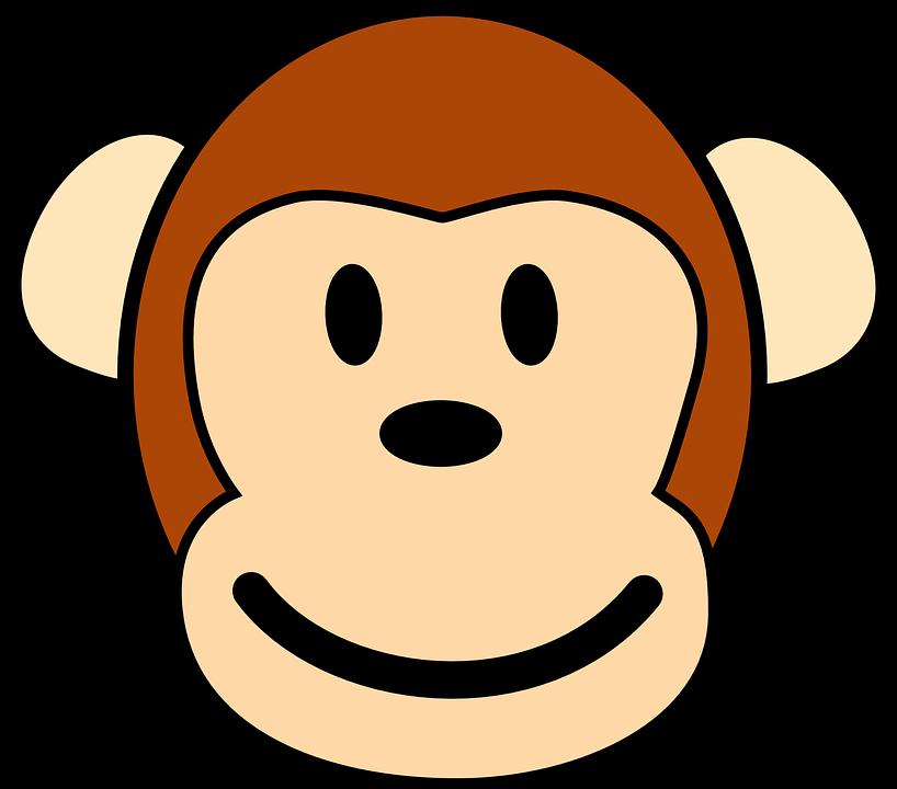 monkey face happy free vector graphic on pixabay rh pixabay com funny monkey face cartoon baby monkey face cartoon