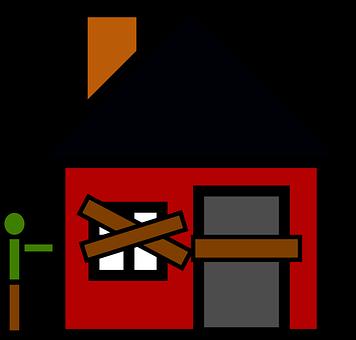 差し押さえ, 放棄された, ホーム, 空, 家, 不動産, 住宅, 景気後退