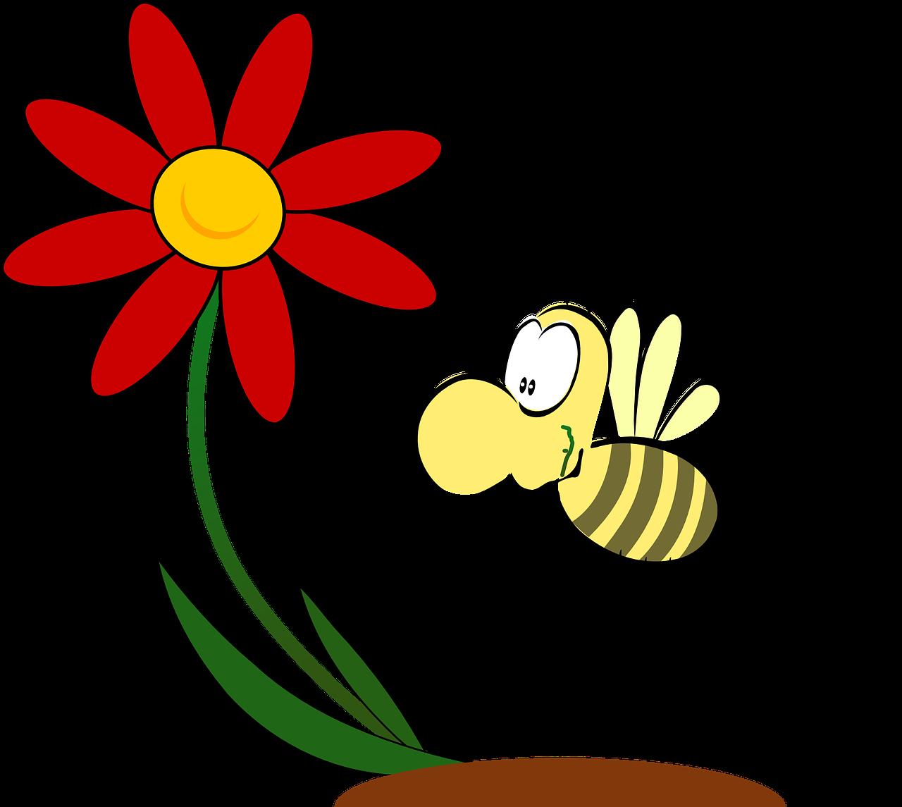 Прикольные картинки цветов с пчелами, открыток новогодних открытка