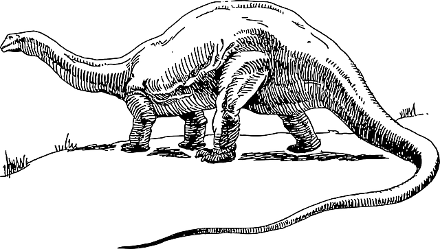 Free Vector Graphic Dinosaur Long Tail Reptiles