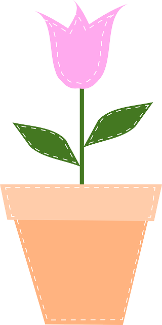 Flowerpot Tulip Easter 183 Free Vector Graphic On Pixabay