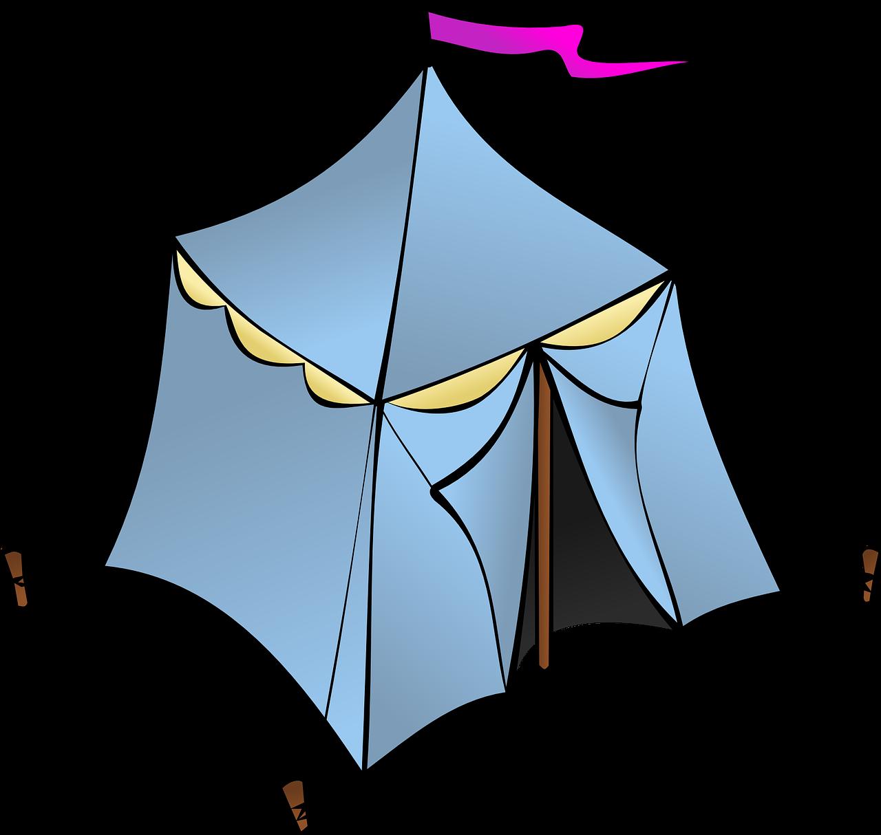 Детские рисунки палатки