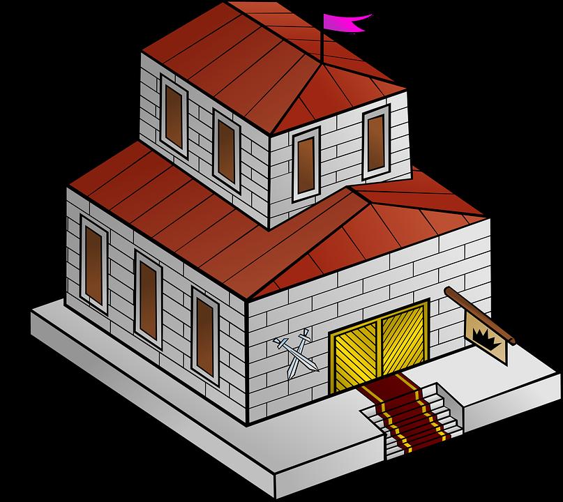 Gebäude Flagge Karte Treppe Spiel Spielen Rolle