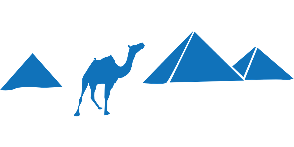 Pyramids Camel Blue 183 Free Vector Graphic On Pixabay