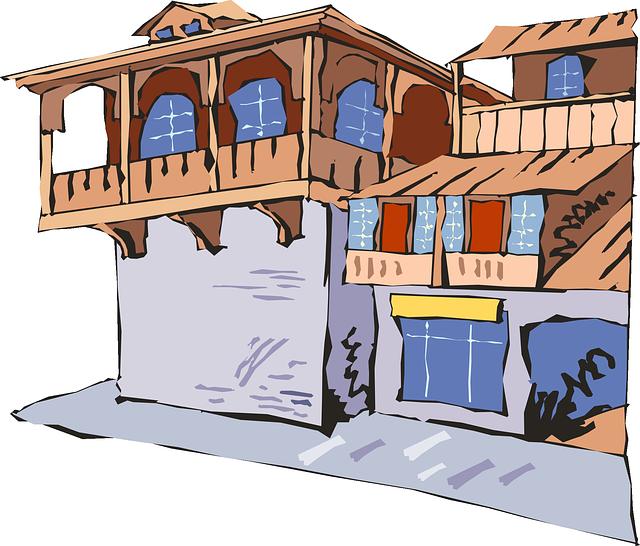 kostenlose vektorgrafik haus brown fenster dach balkon kostenloses bild auf pixabay 48814. Black Bedroom Furniture Sets. Home Design Ideas