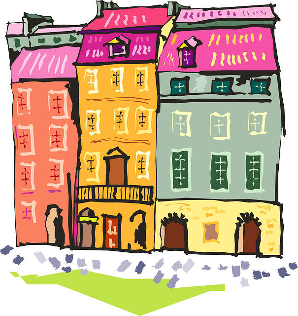 Apartment Clip Art: Free Vector Graphic: Colorful, Apartments, Building