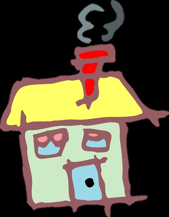 Line Art House Png : Haus klein schornstein · kostenlose vektorgrafik auf pixabay