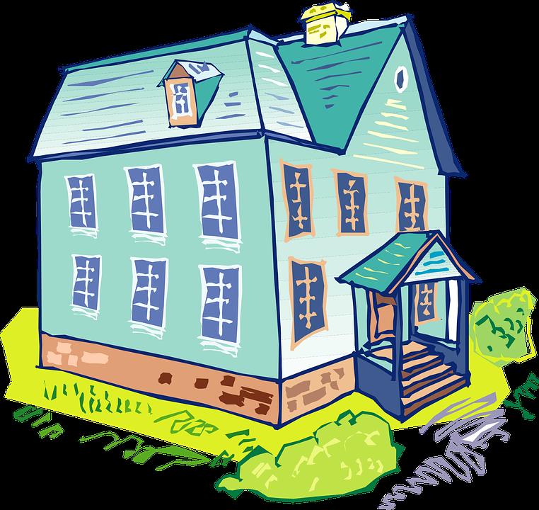 House Blue Home Architecture Building Windows
