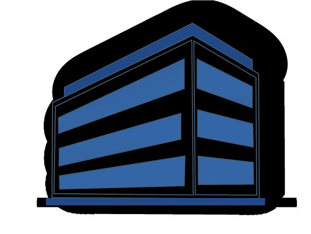 Image vectorielle gratuite bureau b timent bleu blanc for Bureau images gratuites