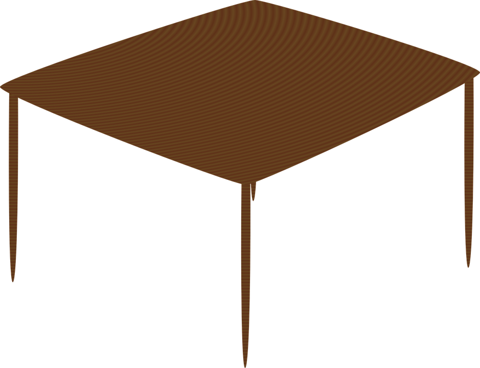 Free vector graphic table wooden brown one piece - Set de table transparent ...
