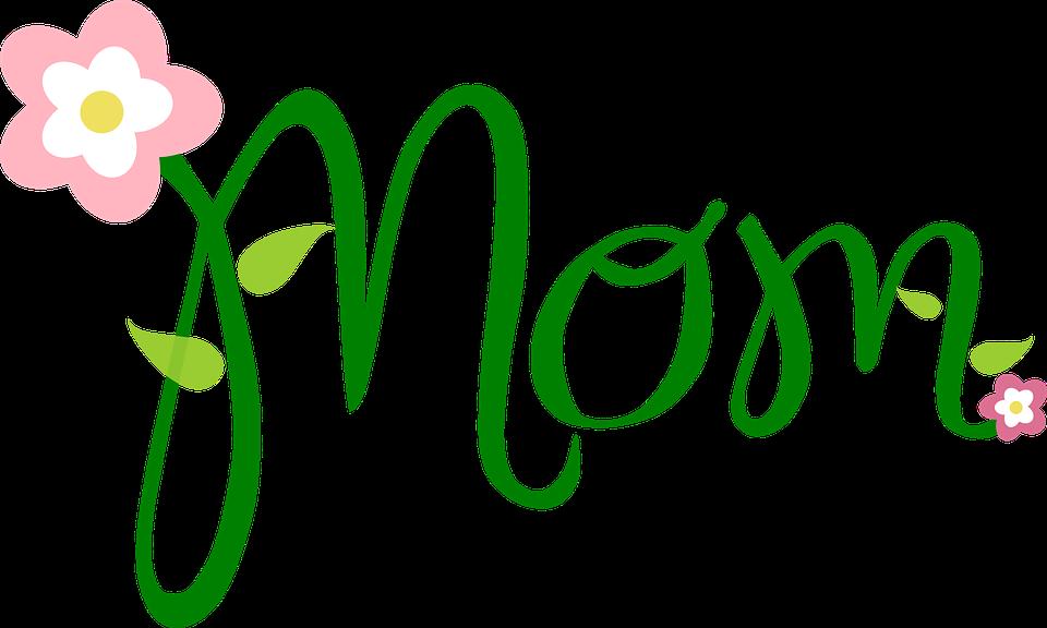 mom text flower free vector graphic on pixabay rh pixabay com mom clipart black and white mom clipart black and white