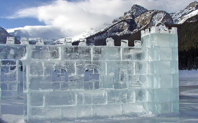 Free Photo Ice Castle Carving Glacier Free Image On