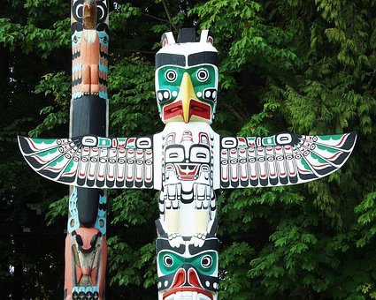 Totem Pole, Native, Indian, Vancouver