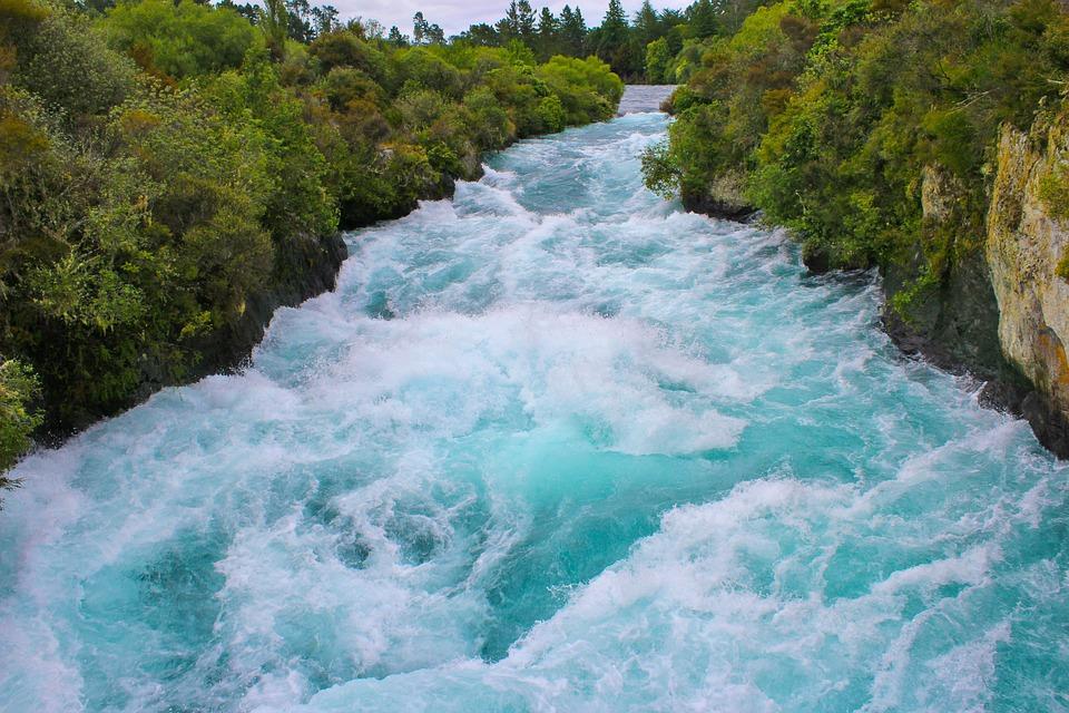 Река Хука, Воды, Водопад, Новая Зеландия