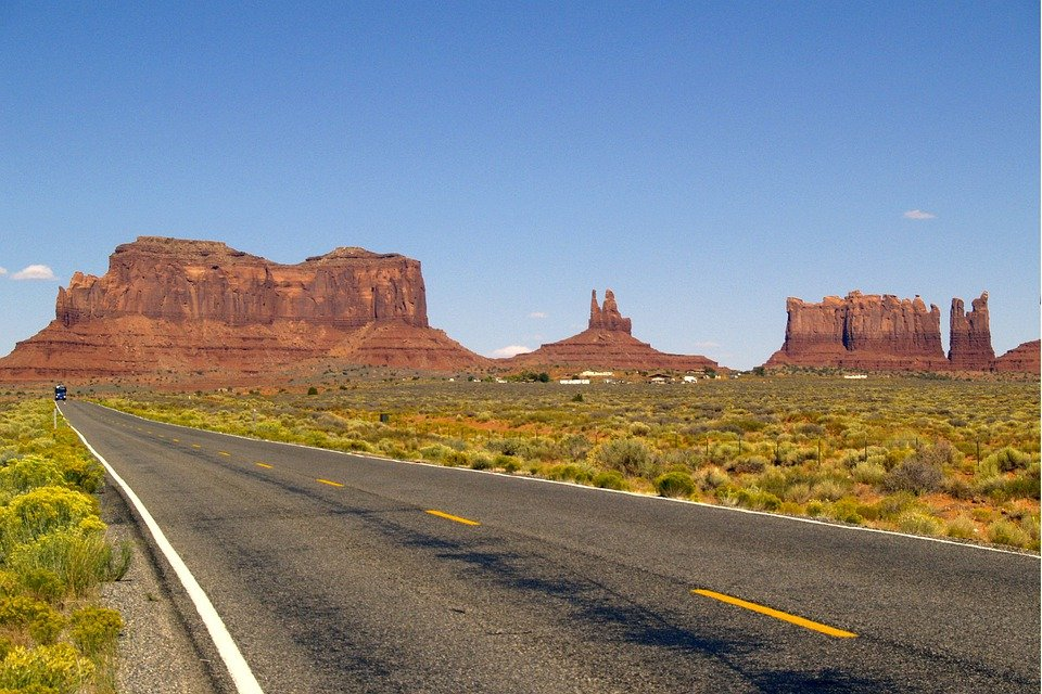Free photo: Monument Valley, Arizona, Usa, Road - Free ... White Rose Wallpapers