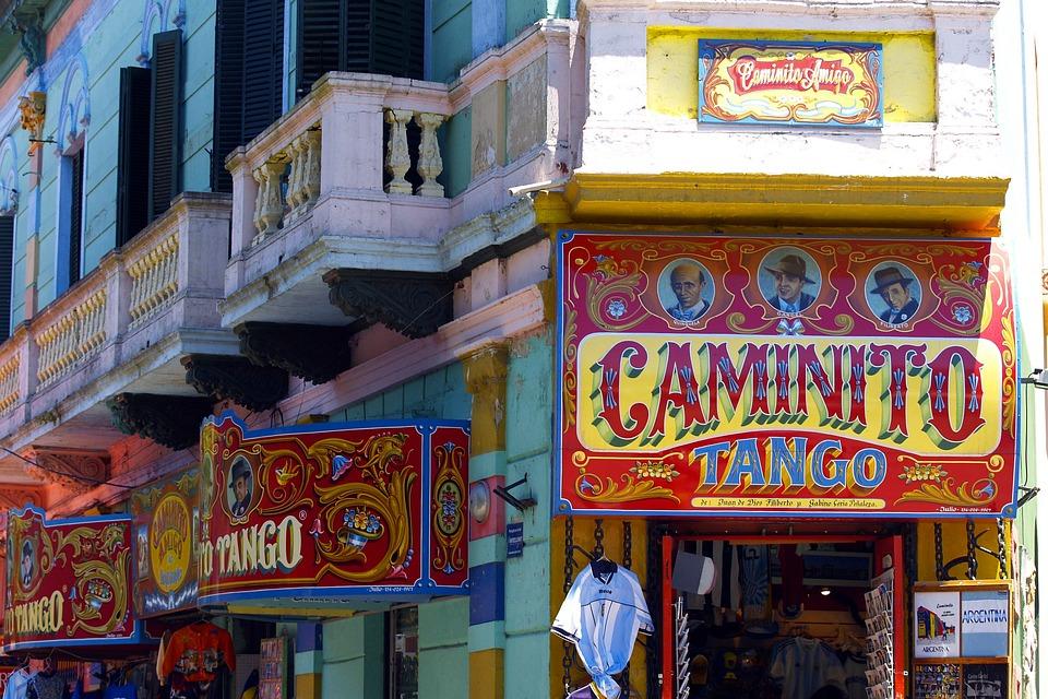 Caminito, Facade, Buenos Aires, Argentina, Colorful