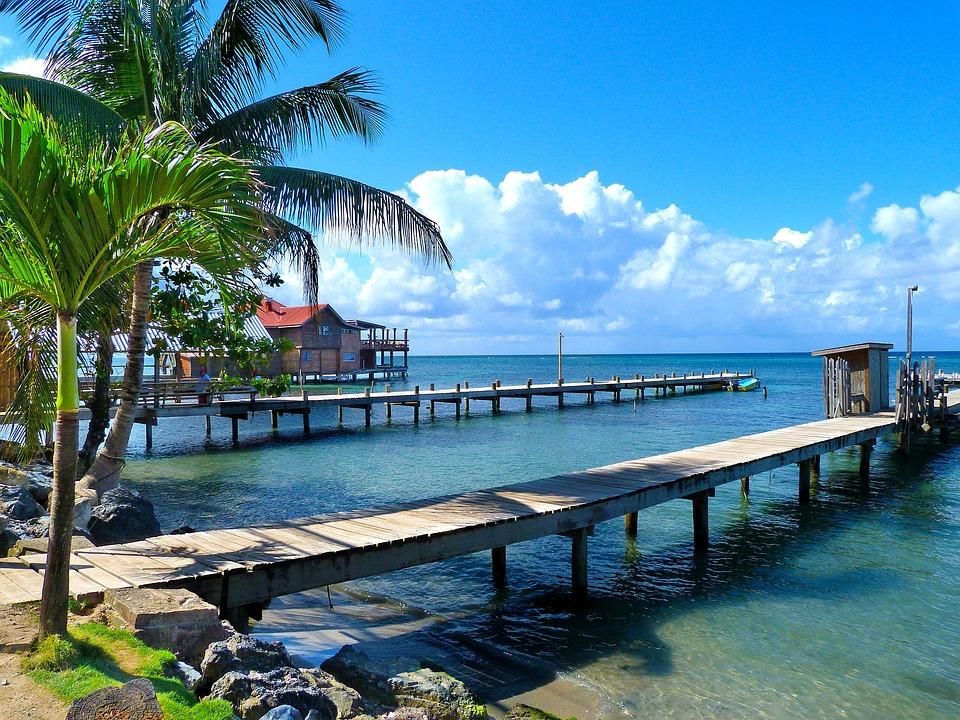 Honduras, Roantan, Wyspa, Plaży, Morze