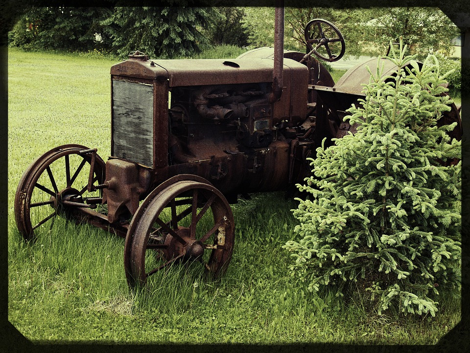 Antique Tractors Equipment : Free photo old tractor farm equipment image on