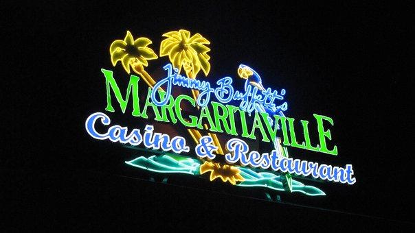 Sign, Casino, Night, Neon, Lighting