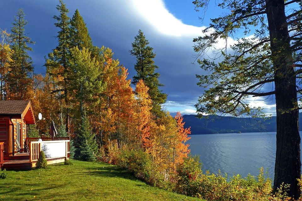 photo gratuite automne lac paysage nature