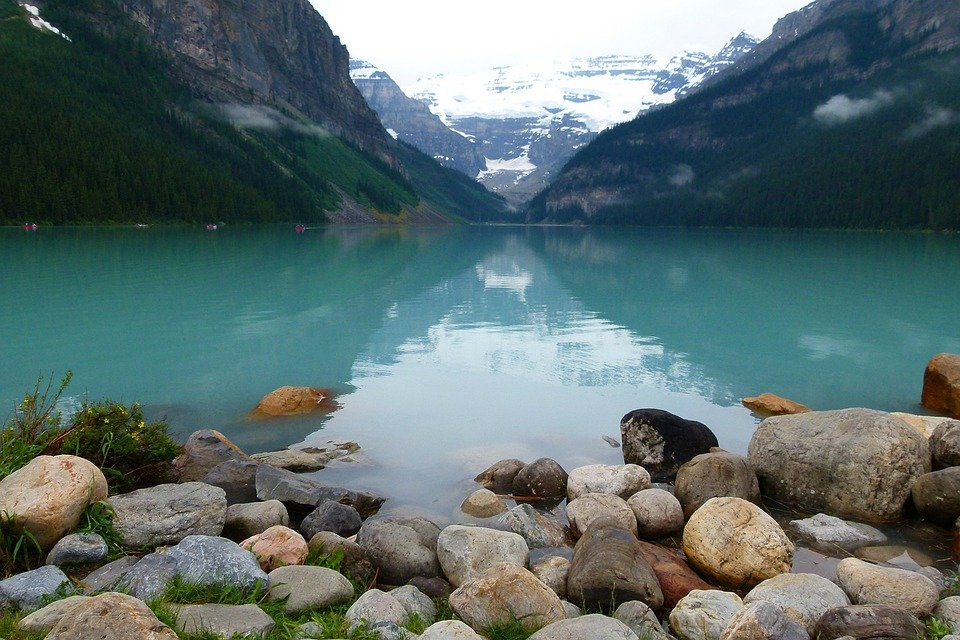 Free Photo Lake Louise Glacier Blue Water Free Image