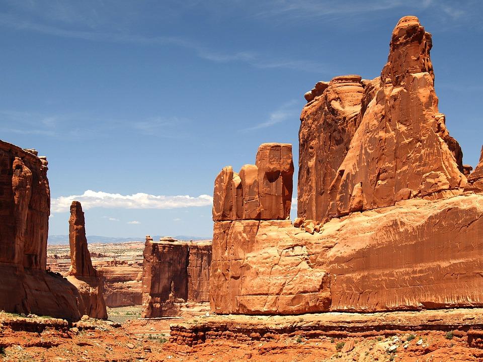 Park Narodowy Arches, Utah, Usa, Skały, Krajobraz