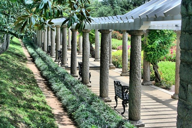Free photo pergola benches walkway free image on for What does pergola mean