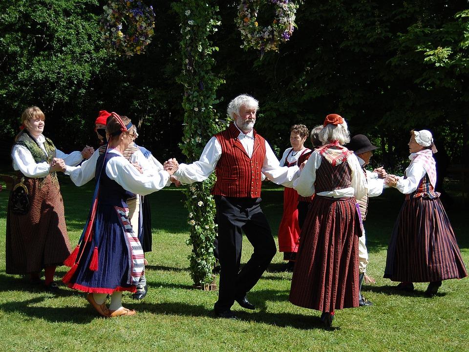 ヴァリエーション, フォーク ダンス, スクエア ダンス, ダンス, 真夏, スウェーデン