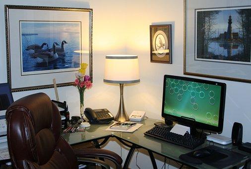 ホーム オフィス, 作業スペース, コンピュータ, オフィス, デスク