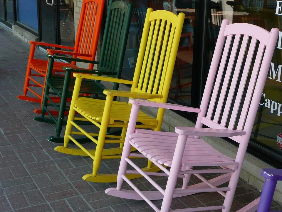 Chaises Bascule Bois Color Affichage Vente