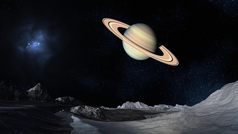 Saturno, Spazio, Superficie Lunare, Pianeta