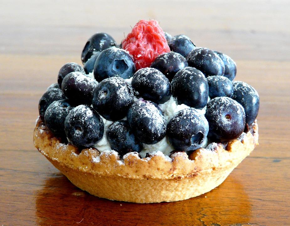 Mirtilli, Blu, Dolce, Crostata, Torta, Dessert