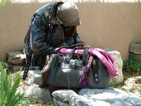 ホームレス, 男, 人, わんわん物語, 貧困, 男性, 貧しい, 悲しい