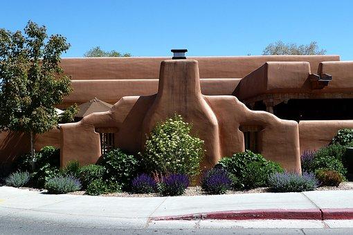 Santa Fe New Mexico Usa Building House Sty