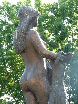 Bullayer Brautrock, estátua, mulher, nua