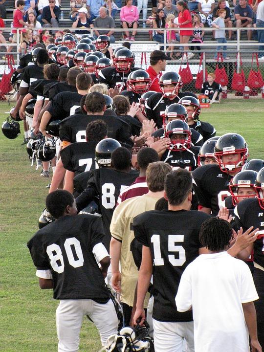 Kids, Football Game, Players, Field, Sport, Walking