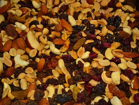 Trail Mix, Nuts, Raisins, Brazil Nuts