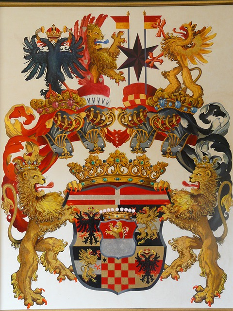 Free Photo Coat Of Arms Painting Colorful Free Image