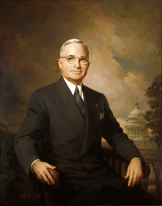 In 1950, President Harry Truman threw out the first ball twice at the opening day Washington DC baseball game; once right handed and once left handed.